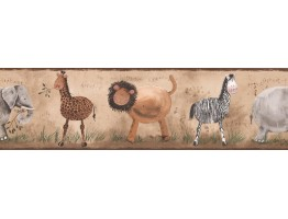 Prepasted Wallpaper Borders - Kids Wall Paper Border 4200 KZ
