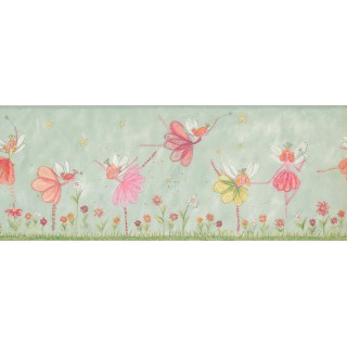 9 1/4 in x 15 ft Prepasted Wallpaper Borders - Kids Wall Paper Border 4224 KZ