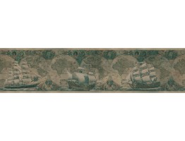 Prepasted Wallpaper Borders - Ship Wall Paper Border ON53524