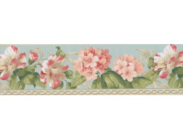Prepasted Wallpaper Borders - Floral Wall Paper Border 4627 BA