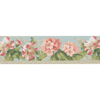 7 in x 15 ft Prepasted Wallpaper Borders - Floral Wall Paper Border 4627 BA
