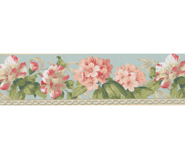 Garden Wallpaper Borders: Floral Wallpaper Border 4627 BA