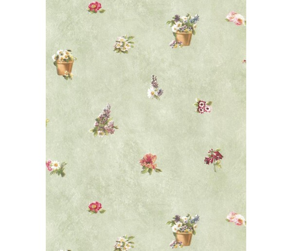 Floral Floral Wallpaper 48843 S.A.MAXWELL CO.
