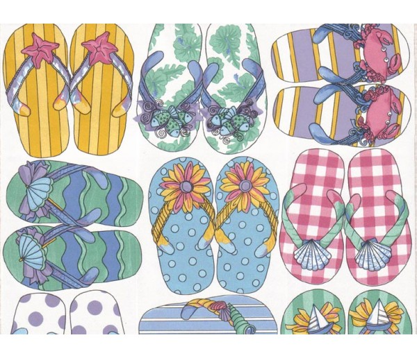 Kids Slippers Wallpaper 50146 S.A.MAXWELL CO.