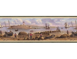 Nautical Wallpaper Border 51513