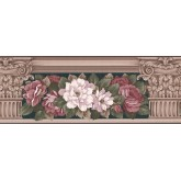 Garden Wallpaper Borders: Floral Wallpaper Border 520 AB