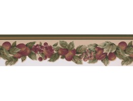 Prepasted Wallpaper Borders - Fruits Wall Paper Border 5501802