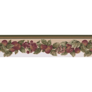 5 in x 15 ft Prepasted Wallpaper Borders - Fruits Wall Paper Border 5501802