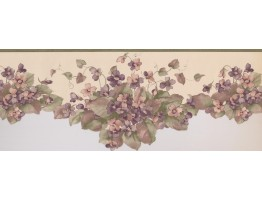 9 in x 15 ft Prepasted Wallpaper Borders - Floral Wall Paper Border 5504120