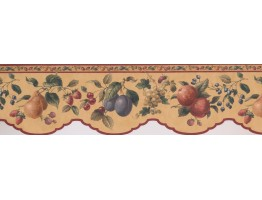 6.7 in x 15 ft Prepasted Wallpaper Borders - Fruits Wall Paper Border 5505652