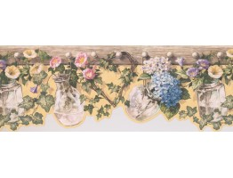 Prepasted Wallpaper Borders - Floral Wall Paper Border 5505681