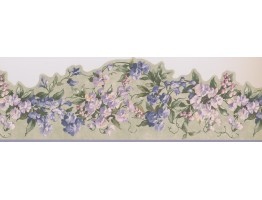 Prepasted Wallpaper Borders - Floral Wall Paper Border 5505713