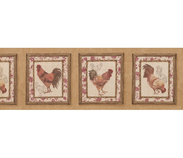 Roosters Roosters Wallpaper Border 5506052 York Wallcoverings