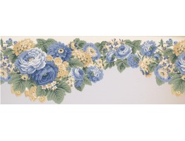 8 1/2 in x 15 ft Prepasted Wallpaper Borders - Floral Wall Paper Border 5506320