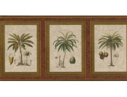 8 3/4 in x 15 ft Palm Tree Wallapaper Border 5507080