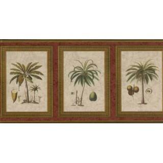 8 3/4 in x 15 ft Palm Tree Wallapaper Border 5507080