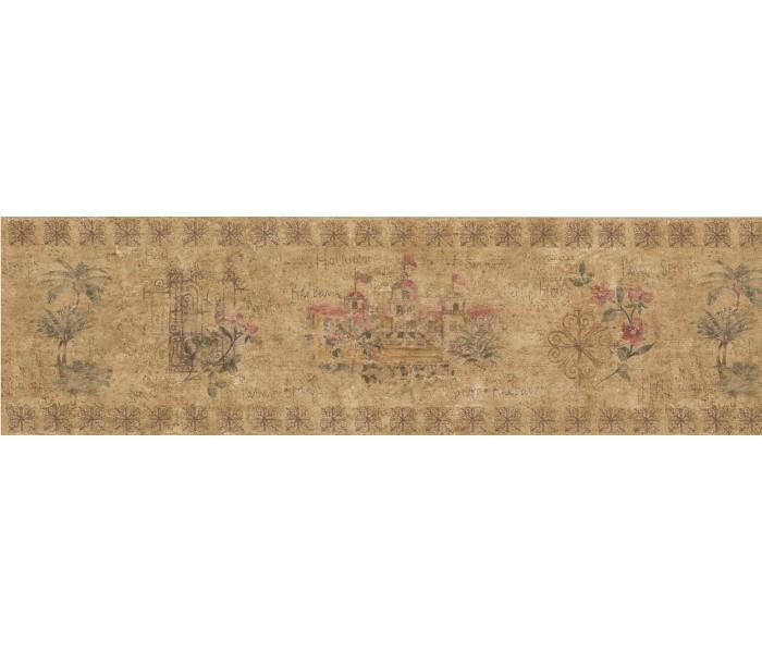 Garden Wallpaper Borders: Floral Wallpaper Border 5510750