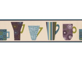 Coffee Mugs Wallpaper Border 5511073