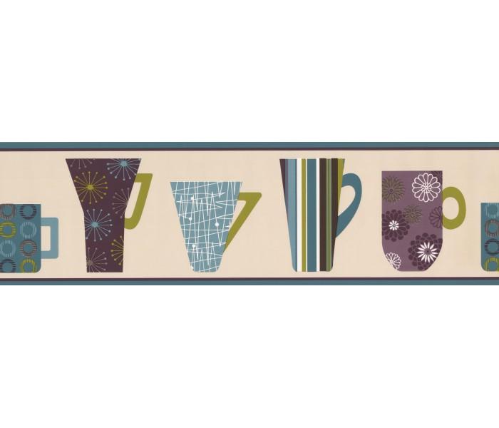Kitchen Wallpaper Borders: Coffee Mugs Wallpaper Border 5511073