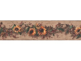 Prepasted Wallpaper Borders - Floral Wall Paper Border 5517 CB