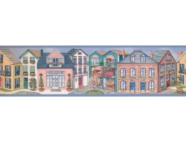 Prepasted Wallpaper Borders - Houses Wall Paper Border 5803090