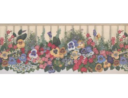 Prepasted Wallpaper Borders - Floral Wall Paper Border 5806935