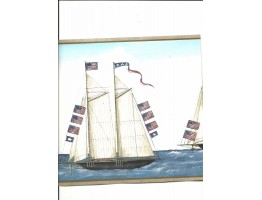 Taupe Sail Boat Wallpaper Border