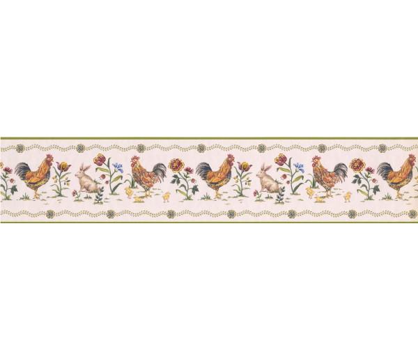 Clearance: Roosters Wallpaper Border 5808345