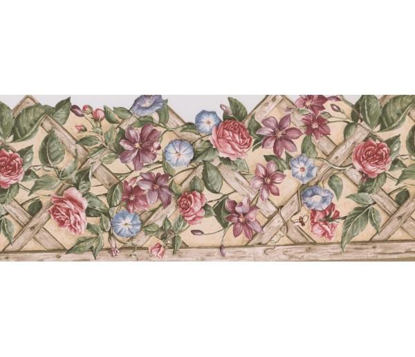 Garden Wallpaper Borders: Floral Wallpaper Border 5813760