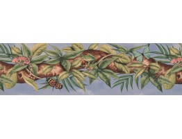 6 7/8 in x 15 ft Prepasted Wallpaper Borders - Garden Wall Paper Border 5814591