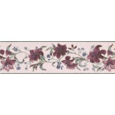 Prepasted Wallpaper Borders - Floral Wall Paper Border 585892