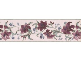 7 in x 15 ft Prepasted Wallpaper Borders - Floral Wall Paper Border 585892