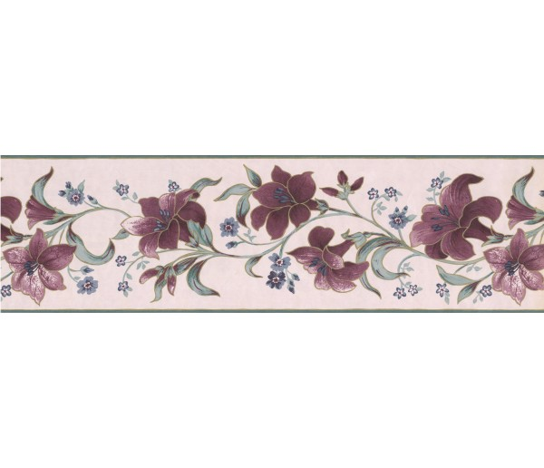 Floral Borders Floral Wallpaper Border 585892