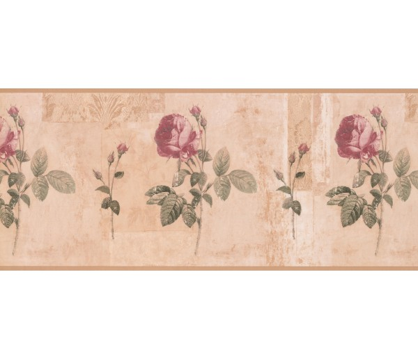 Garden Wallpaper Borders: Floral Wallpaper Border 5909 KH