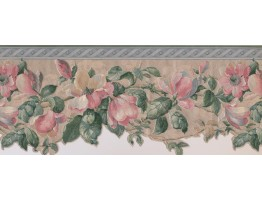 Prepasted Wallpaper Borders - Floral Wall Paper Border 592227