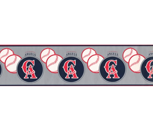 Baseball Wallpaper Borders: California Angels Wallpaper Border 594305