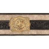 Country Borders Black Belt Buckle Wallpaper Border York Wallcoverings