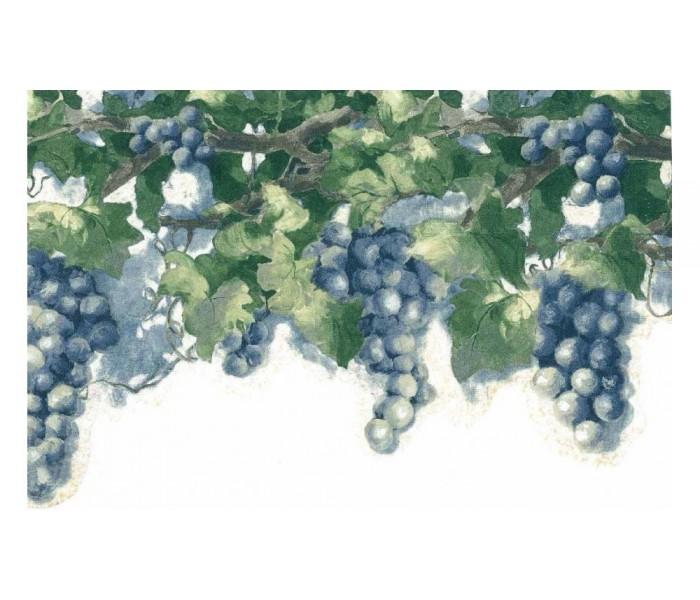 Garden Wallpaper Borders: Grapes Leaf Wallpaper Border 6082 KH
