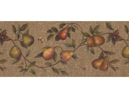 Prepasted Wallpaper Borders - Fruits Wall Paper Border 62182670