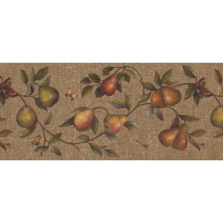 10 1/4 in x 15 ft Prepasted Wallpaper Borders - Fruits Wall Paper Border 62182670
