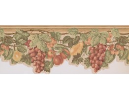 Prepasted Wallpaper Borders - Fruits Wall Paper Border 63296230