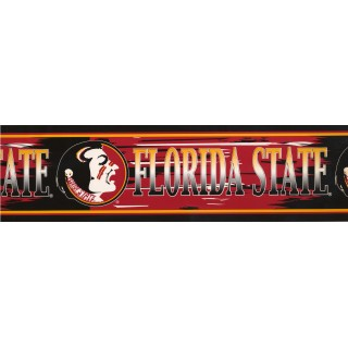 6 3/4 in x 15 ft Prepasted Wallpaper Borders - Florida State Wall Paper Border 6510 SJC