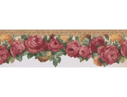 Rose Flower Wallpaper Border 681403