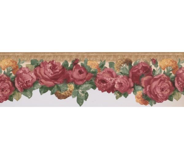 Floral Wallpaper Borders: Rose Flower Wallpaper Border 681403