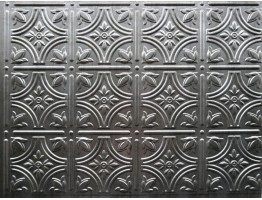Backsplash Tiles  - Decorative Thermoplastic Tile 18 X 24 Empire Crosshatch Silver