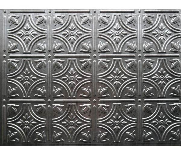 Wall Panels: Backsplash Tiles  - Decorative Thermoplastic Tile 18 X 24 Empire Crosshatch Silver