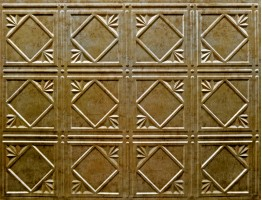 Backsplash Tiles  - Decorative Thermoplastic Tile 18 X 24 Artnouvo Bermuda Bronze