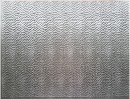 Backsplash Tiles  - Decorative Thermoplastic Tile 18 X 24 Lamina Crosshatch Silver