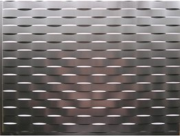 Backsplash Tiles  - Decorative Thermoplastic Tile 18 X 24 Lattice Brushed Nickel