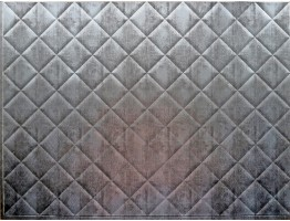 Backsplash Tiles  - Decorative Thermoplastic Tile 18 X 24 Criss Crosshatch Silver